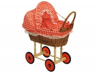 Puppenwagen mit Stoffdach
