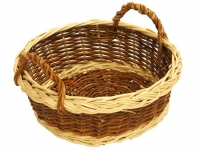 Brotkörberl rund Rohweide